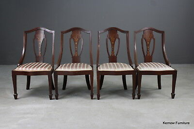 Set 4 Antique Victorian Mahogany Occasional Parlour Chairs