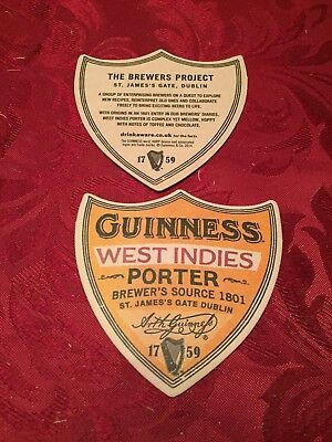 Guinness - West Indies Brewers Source St. James Gate Dublin Rare Unused Beer Mat