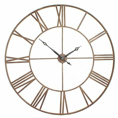 Roman Big Vintage Bronze Skeleton Wall Clock 120cm Diameter BRONZE