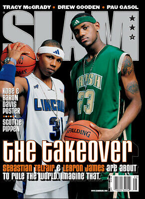 NEW SLAM Magazine #62 NBA August 2002 First Lebron James Cover !!!