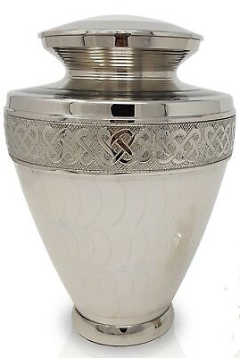 Adult Cremation Urn for Ashes Large Funeral Memorial Ashes Urn White Urn Milano