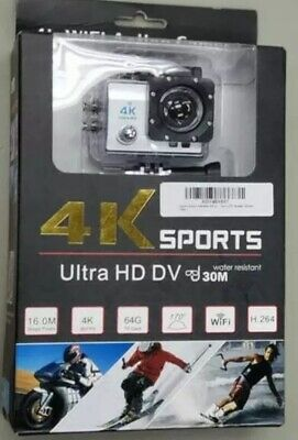 4K Ultra HD DV 16MP Sports Action Camera + Full Accessory Bundle - New in Box