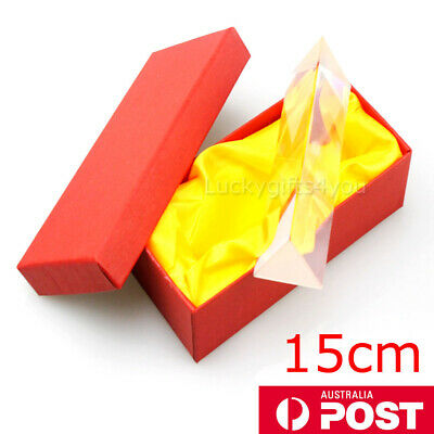 15cm Optical Glass Triple Triangular Prism Physics Refractor Light Spectrum H