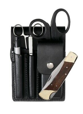 Leather Vertical Scissor & Equipment Belt Pouch Ambulance Paramedic Medic Doctor