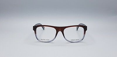 Giorgio Armani GA970 D95 Transparent Brown Grey Rectangular Men's Glasses