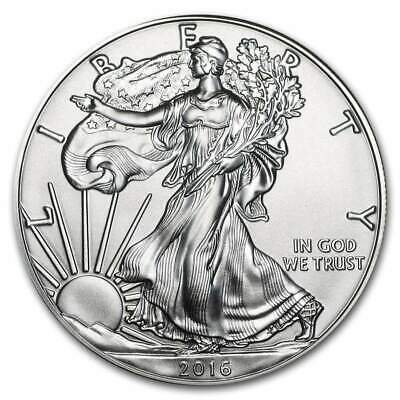 """2016 1oz Silver Eagle """"Unc. Frosty White"""" US Dollar **Fresh from Mint Roll"""