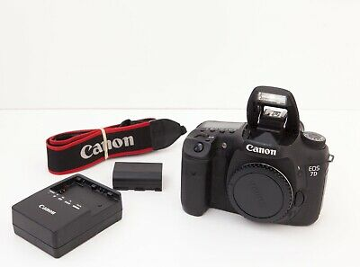 Canon EOS 7D MK 1 with battery, strap and battery charger.