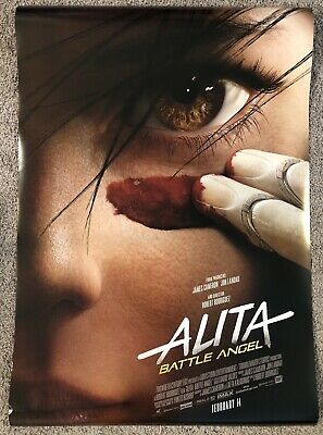 Alita Battle Angel Original Double Sided Movie Poster 27 X 40 Verson A
