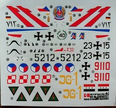 1:72  KP/Mastercraft Decal - MiG-21MF 'Tomcat Killer'. Without instructions.