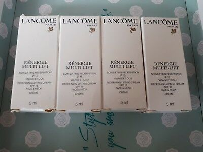 Lancome Renergie Multi Lift Redefinning Lifting Creme - SPF15 Face & Neck 4×5ml