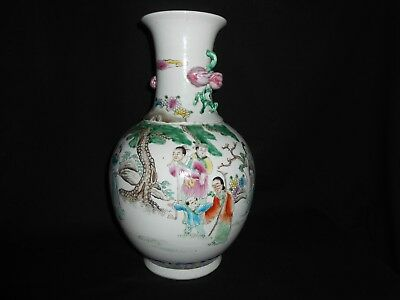 A rare famille rose vase, Kangxi six-character mark 19th c