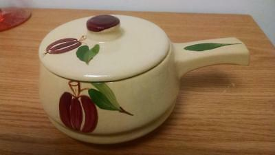 Watts pottery Apple covered individual  handled casserole