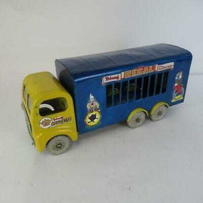 Vintage Tri-ang Regal Circus Toy Truck - Painted Metal Model - Made in England