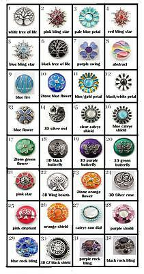 Noosa Style Snap Button Chunk Style Charm - 18Mm-  Tree Of Life