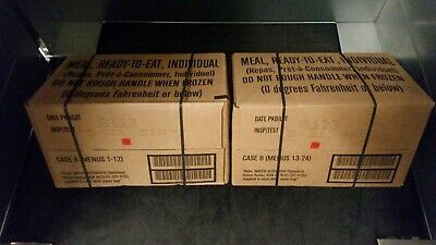 US Army MRE Meal Ready to Eat Case A + B Insp/Test 05/21 EPA Ration c