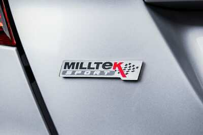 Official Milltek Sport Decal Sticker 2x medium 180mm Black VW Audi Seat Skoda