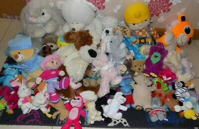 Joblot Of Approx 54  Soft Toys 10 Kg  Car Boot / Nursery Etc (  Lot Soc )  Used