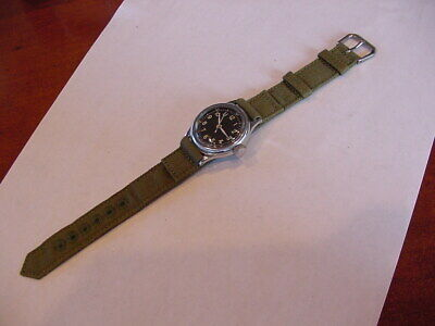 MINT 1944 MEN'S MILITARY BULOVA WRISTWATCH TYPE A-11 HACKING RESTORED! Awesome!