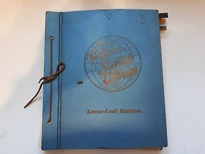 Old Blue Globe Stamp Album  : World Collection- Over 1800 Used Stamps.