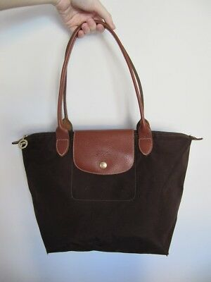 It Épaule Cuir Bag Pliage Cabas Cabine Longchamp Grand Sac w0v8nNm