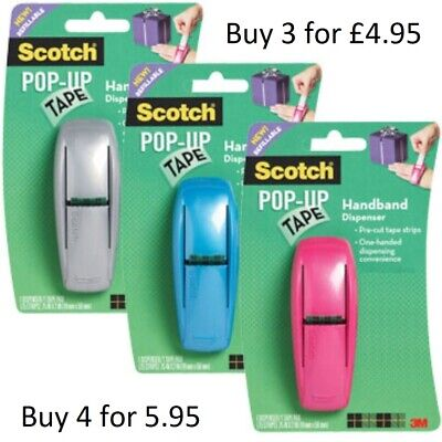 Scotch Pop Up Tape Dispensers Double, Triple Packs Colours NO TAPE #BargainTrend