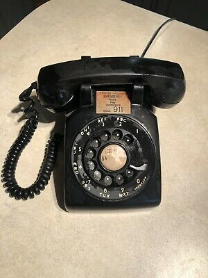 Vintage Black Western Electric Rotary Dial Phone