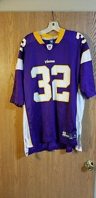 Rare Minnesota Vikings Toby Gerhart #32 Reebok On Field Jersey Adult XL EUC