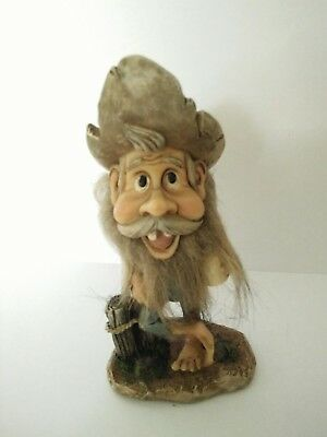 Cheeky Forest Fairy Old Man Troll Ornament Statue Figurine Gift 12cm