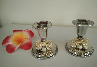 Vintage Silver Plated Candle Holders Candle Sticks