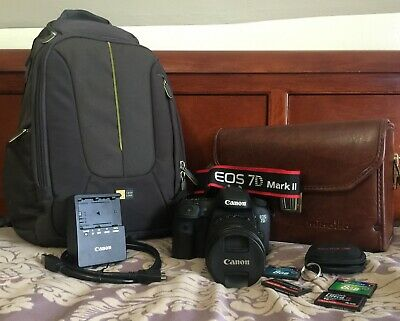 Canon EOS 7D Mark II 20.2MP Digital SLR Camera -MANY EXTRAS- 2967 Shutter Count