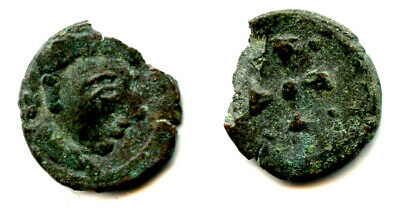 Imitation Roman Imperial AE4, struck in Sri Lanka, 400s AD, cross in circle type
