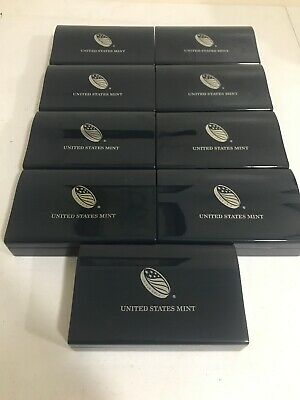 (9) 2012 American Eagle S Two-Coin Silver Proof Set Box Only with No Coin