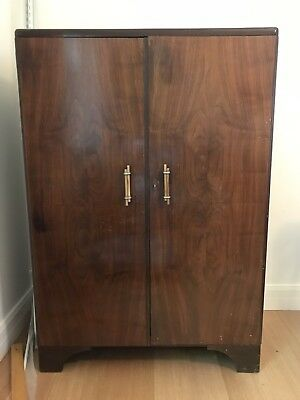 Classic Art Deco Antique Gentlemen's Wardrobe