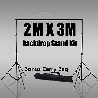 2x3M Photography Studio Crossbar Background Backdrop Stand Support System Set