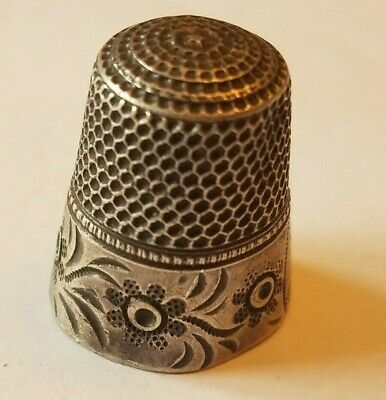 Vintage Sterling Silver Thimble Collectible Antique Sewing Thimble