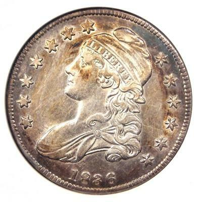 1836 Capped Bust Half Dollar 50C O-115 - ANACS AU Details - Rare Certified Coin!
