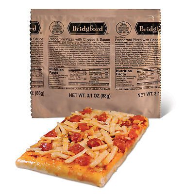 "NEW 6/2018 - Bridgford ""Ready to Eat"" MRE Pepperoni Pizza with Cheese & Sauce"