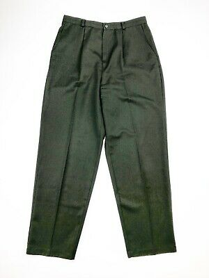 BRIGGS NEW YORK Pants Womens Sz 14 Green Pleated Career Elastic Waist SLACKS
