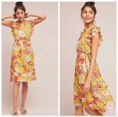 878666fb4d718 Anthropologie NWT Sz Large Dolan Left Coast Ellory Dress Multicolor Floral  Silk