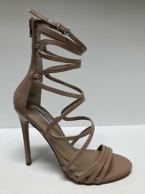 253a2fc6ff8 NEW $99 STEVE Madden Flaunt Black Caged Strappy High Heel Sandals ...