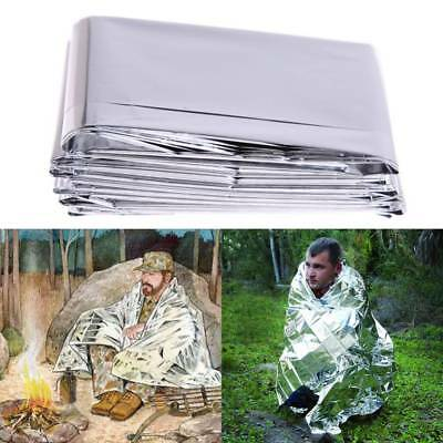 Emergency Solar Blanket Outdoor Survival Safety Insulating Mylar Thermal Heat