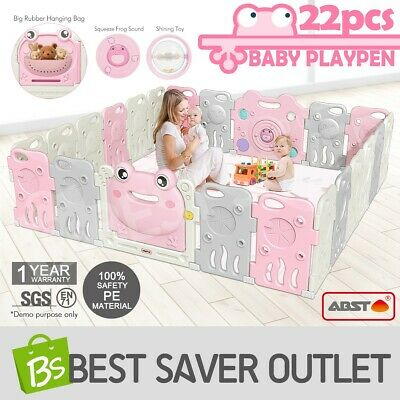 Baby Playpen Kids Safety Gate Interactive Baby Play Room Frog Girl Type 22 Panel