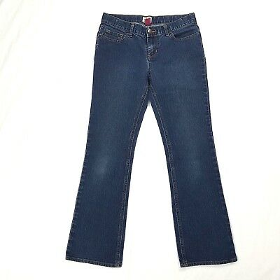 The Childrens Place Girls Stretch Bootcut Jeans size 14 Dark Wash Denim Pants