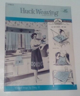 Huck Weaving Swedish Embroidery Booklet pattern  Cartier-Bresson C-B # 25