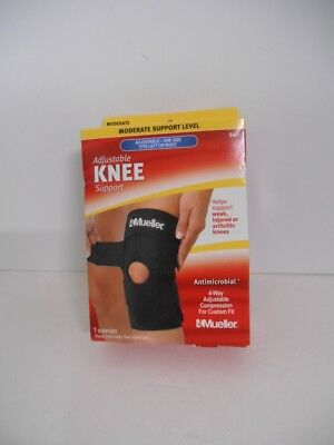 2d660db437 New in Box~Mueller Sport Care Adjustable Knee Brace~Moderate Support~6441  Black