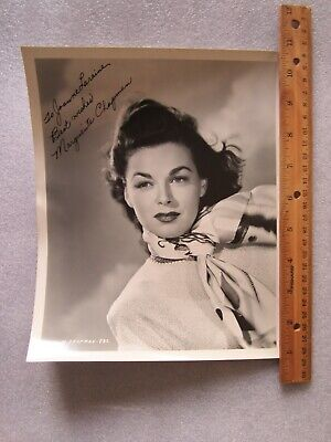Marguerite Chapman Actress Sci-fi Actress In Flight To Mars Signed Card Autographs-original Movies