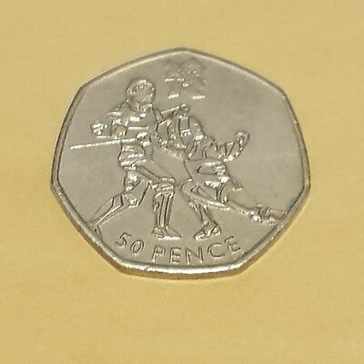 2011 50P Fifty Pence Coin London Summer Olympic 2012 Fencing Circulated