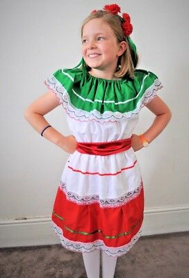 Gorgeous Italian Day Girl costume national dress peasant Italy FREE SHIPPING