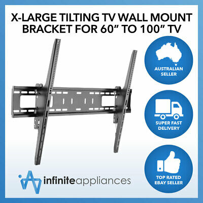 "Extra Large Flat Tilted Wall Mount TV Bracket For 60""-100"" TV 65"" 70"" 75"" 80"""