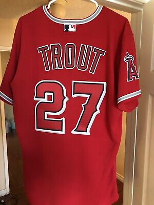 ca37c1c69ad AUTHENTIC MAJESTIC ANGELS Mike Trout Jersey Sz 44 -  100.00